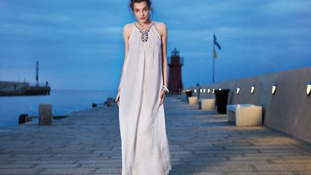 The white linen maxi dress from 120% Lino