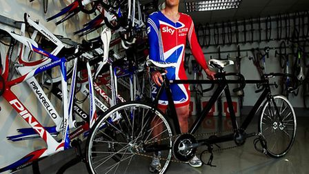 Gold medal winning Paralympian Anthony Kappes MBE Photo: British Cycling
