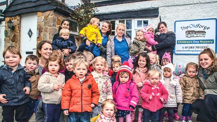 Staff and children at The Old Forge Day Nursery
