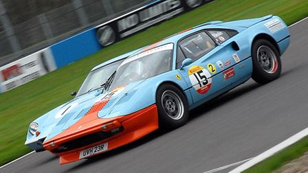 David Tomlin (Ferrari 308, near) won his race-long duel with Oliver Ford's Lotus Europa