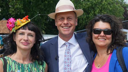 Carry Somers of Ashbourne firm Pachacuti with Joe Swift (wearing a Pachacuti hat) and his wife