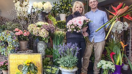 Alison Abbott and son Oliver of the Flower House, Hulland Ward