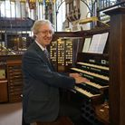 Peter playing Derby Cathedral organ