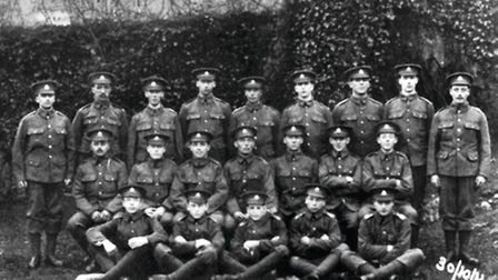 Volunteers from Crich joining the Sherwood Foresters in October 1914