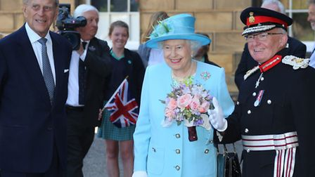 Her Majesty the Queen, HRH The Duke of Edinburgh, and Lord Lieutenant William Tucker