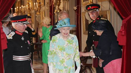 Her Majesty enters the Painted Hall