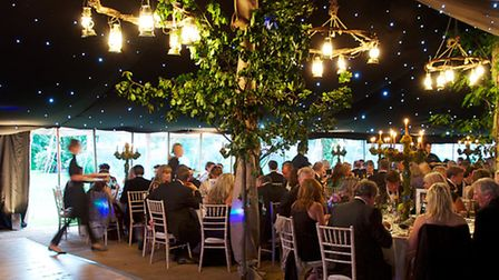 Red Olive catering for an exclusive event in a marquee