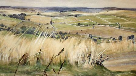 Watercolour landscape by Annesley Cary