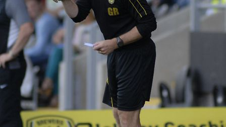 Gary coaching from the touchline