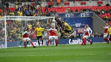 Match action from last season's play off final at Wembley