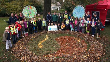 Local school children take part in the 'Get Better with Nature' campaign