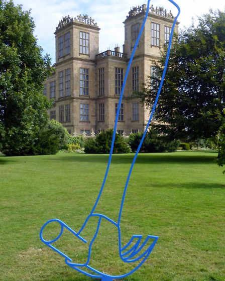 Michael Craig-Martin's hammer - part of the National Trust project at Hardwick Hall