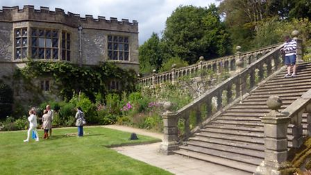 Long Gallery and stone steps at Haddon
