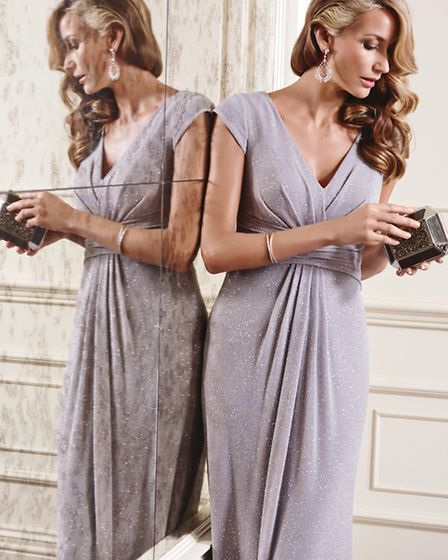 The party season is on the horizon and this elegant dress from John Charles, a range available at She Fashions...