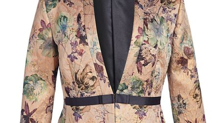 Brighten up a simple evening outfit with this floral broccade jacket from David Nieper (www.davidnieper.co.uk)