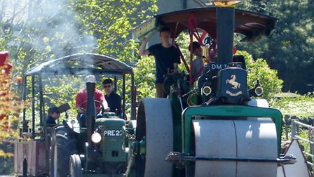 The late Fred Dibnah's beloved Aveling & Porter road roller 'Betsy' is now owned by his sons Jack and Roger