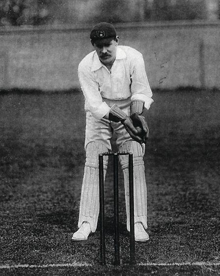 Derbyshire and England wicketkeeper Bill Storer (1867-1912) - also a stalwart of Derby Midland FC and later Derby County