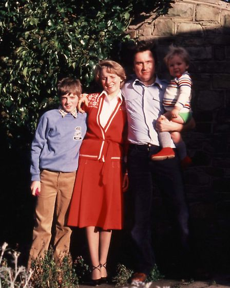 Steve with his mum, dad and younger brother Joe