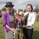 President Carol Frost with Jo Stubbs and her Champion Jersey cow