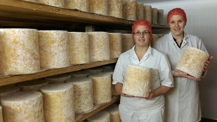 Julie Etches, dairy operator, and Diana Alcock, site supervisor, who used to work at the old site and have now been...