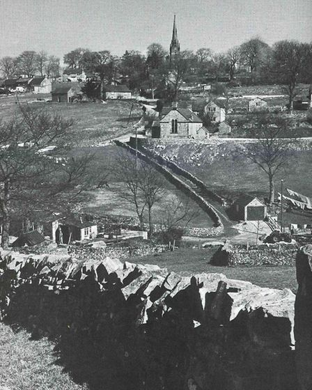 The Peak village of Butterton in tranquil sunshine. But in winter 1947 at the hub of a tragic air crash