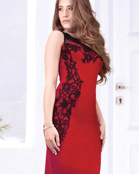 Brighten up your festive wardrobe with this Frank Lyman dress, available from House of Dalrymple, Tamworth Rd, Long Eaton...