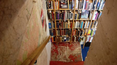 Entering the book cave