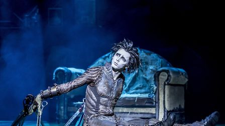 Liam Mower as Edward Scissorhands, on stage at Nottingham's Theatre Royal Photo: Johan Persson