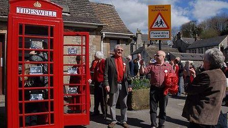 The launch of Tideswell's 'history box' Photo: Bill Bevan
