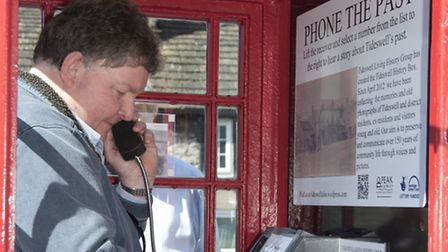 Listening in to living history in Tideswell Photo: Bill Bevan