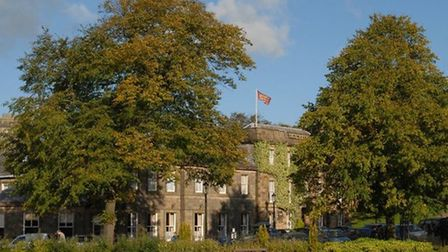 The Old Hall Hotell from Buxton's Pavilion Gardens