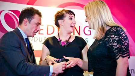 Vicky Eyre and Sally Potter at the Wedding Industry Awards, held in Cambridgeshire