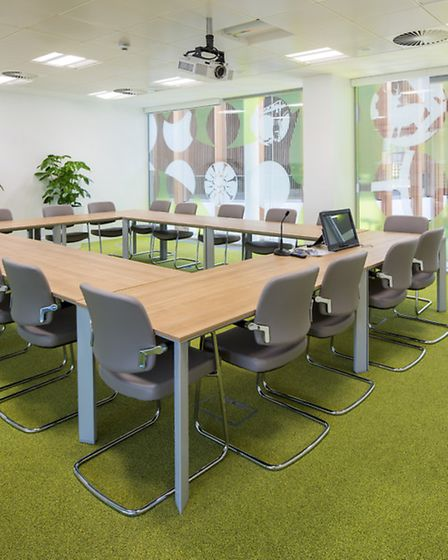 One of the modern meeting rooms