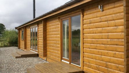 Richard and Leigh Woods' Norwegian Log Building home