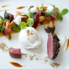 One of the dishes on offer at The Gallery, Baslow.