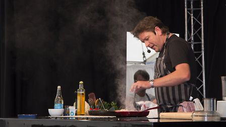 James Martin takes to the stage at Denby