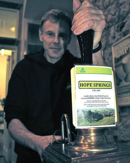 Brewer Alistair Boyd at Hope Valley Brewery at YHA Castleton Losehill Hall