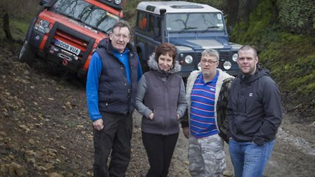Members of Peak 4x4 Response Team: l to r, David and Sally Wheatley, Clive Hulme and Craig Brannen Photo: GR Photography