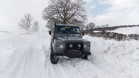 After heavy snowfall 4x4's can get through where other vehicles fail