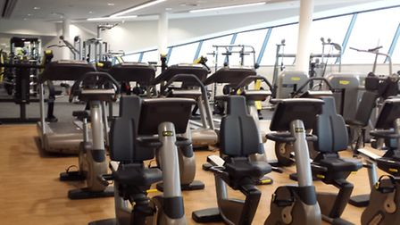 Inside the gym at Derby Arena