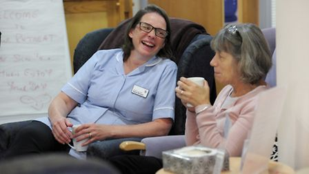 The hospice provides support in a positive environment