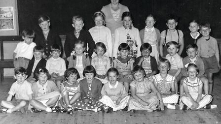 Sally Oliver's class with Brenda second from right