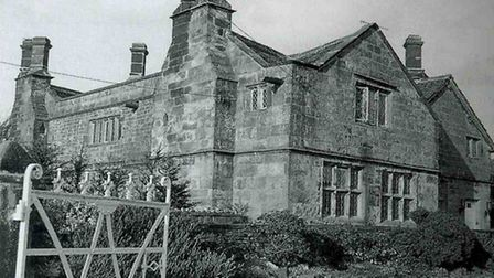 'Cartledge Hall' in Holmesfield in the 1980s - from the 1890s writer R M Gilchrist lived there for 25 years