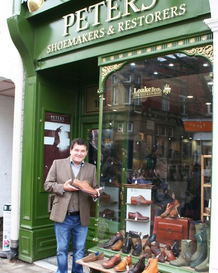 Peter outside the Chesterfield shop