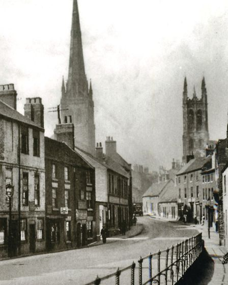 An unrecognisable 'then and now': Bridge Gate, 'the entire scene was razed in 1967 to build the inner ring road,'...
