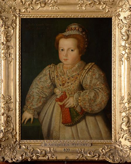 The portrait of Arbella as a baby at Hardwick Hall Photo: National Trust