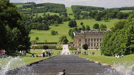 Chatsworth Cascade and House Photo: Chatsworth House Trust