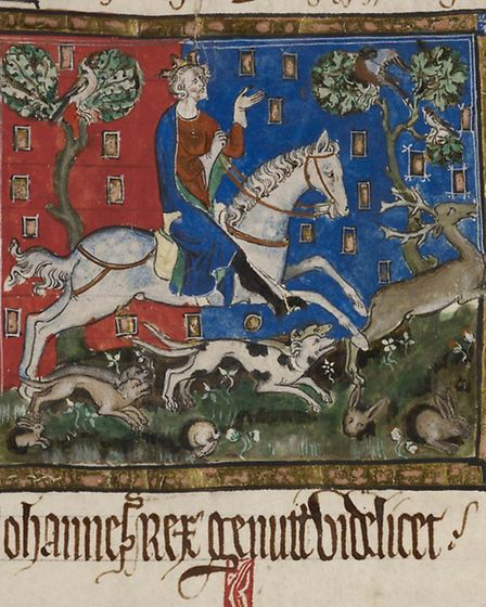 King John hunting - Sherwood Forest around Laxton was one of his favourite hunting grounds