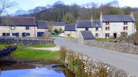 The village from the pond, known as 'The Dam'
