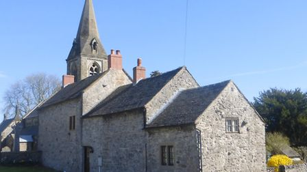 'The stairway to heaven' - church and cottages
